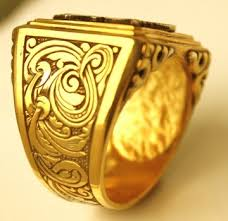 Ring With Initials Men U0027s Signet Ring Hand Carved With Initials Products I Love