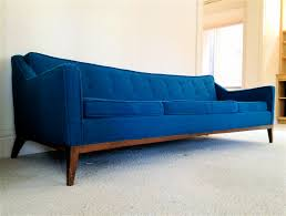modern mid century sofa buying tips traba homes cool mid century sofa made of wooden material also soft sponge in blue