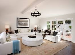 interior modern living room combined with spanish style decoration