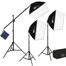 best softbox lighting for video three light pbl e z softbox boom kit for photo video lighting