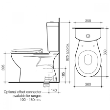 caroma regal ii close coupled toilet suite buy online at the blue