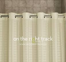 No Liner Shower Curtain On The Right Track Hookless皰 Shower Curtains
