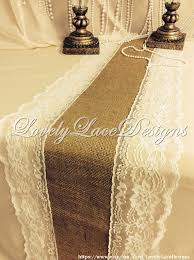 ivory lace table runner ivory weddings burlap table runner ivory lace 3ft 10ft x12in wide