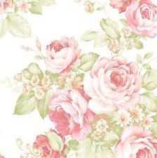 Shabby Chic Pink Wallpaper by Wallpaper By The Yard Chic Pink Green Garden Rose Floral Shabby