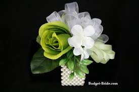 Mint Green Corsage Wedding Rose Wrist Corsage