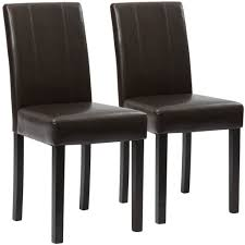 Beige Leather Dining Chairs Best Choice Products Home Furniture Set Of 2 Leather Dining Chairs Br