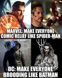 Relief Meme - brooding comic relief dc mcu meme quirkybyte