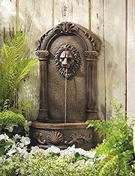 garden statues waterfall wall mounted