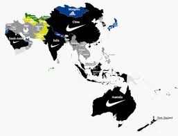Nike Map Football U0027s National Team Kit Suppliers How They Spread Across
