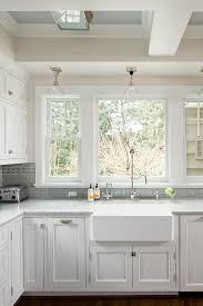kitchen window backsplash kitchen sink backsplash cabinet traditional with apron blue
