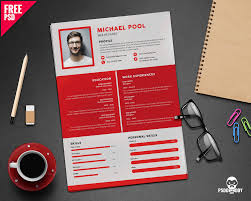 psd resume template clean and designer resume template psd uxfree