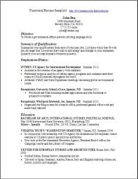 Political Science Resume Sample by Functional Resume Template Word