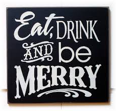 eat drink and be merry wood sign typography 22 00 via etsy