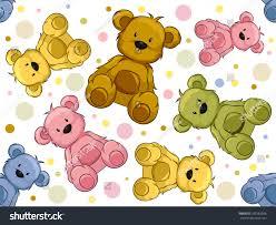 seamless illustration featuring teddy bears stock vector 101589028