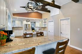 High Ceiling Kitchen by Beach Bungalow Kitchen Belmar New Jersey By Design Line Kitchens