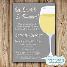 eat drink and be married invitations wine bridal shower invitation eat drink and be married bridal