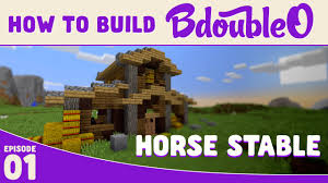 minecraft how to build cool horse stable youtube