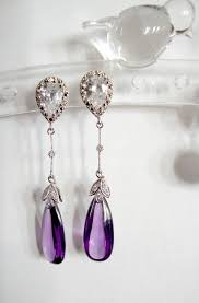 purple drop earrings best 25 purple earrings ideas on peacock wedding