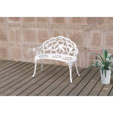 White Metal Outdoor Bench Metal Outdoor Benches Shop The Best Deals For Nov 2017