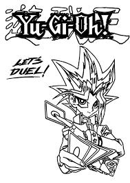 lets duel yu gi coloring netart