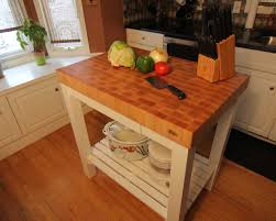 butcher block end grain maple top island cart mcclure block