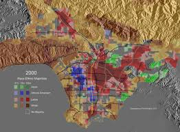 Los Angeles County Zip Code Map by Racial Dot Map In La Highlights Segregation By Neighborhood