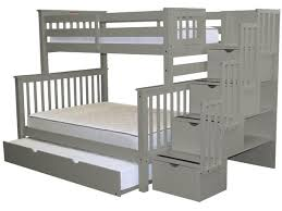 Full Bed With Trundle Bunk Beds Twin Over Full Stairway Gray Full Trundle 965
