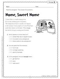 comprehension skills short passages for close reading grade 3