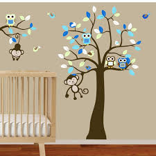 Wall Decals Baby Nursery 54 Wall Stickers For Baby Boy Room Baby Blue Tree Wall Decals