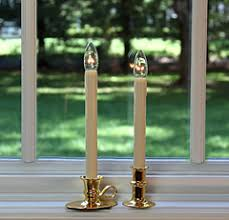 colonial flameless window candle brass brighter than electric