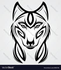 angry wolf head royalty free vector image vectorstock