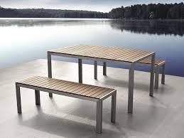 Garden Table Wood And Metal Garden Furniture Furniture Pinterest Metal
