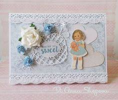 wedding card handmade shabby chic money voucher gift card