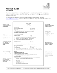 Sample Resume For Teacher Job by Writing A Resume For Teaching Position Free Resume Example And