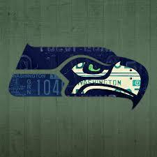 Seahawks Shower Curtain Seattle Seahawks Football Team Retro Logo Washington State License