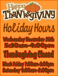 thanksgiving special hours of operation victory fitness in