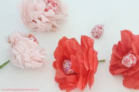 tissue paper flowers printable instructions valentine s day craft tissue paper flower lollipops the happier