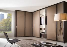 modern wardrobe design with contemporary pendant lamp and brown