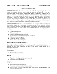 Icu Rn Job Description Resume by Home Health Aide Job Duties For Resume Resume For Your Job