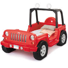 barbie red cars jeep wrangler toddler to twin bed