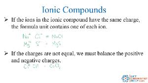 chemistry practice problems formulas for ionic compounds get