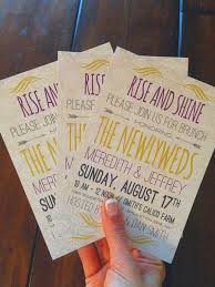 morning after wedding brunch invitations wedding brunch invitations rise and shine newlywed breakfast