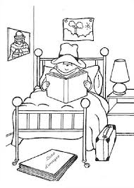 flood coloring pages paddington bear reading a book on his bed coloring page color luna