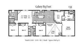 Floor Plans For Trailer Homes Galaxy Big Foot Gl510 A Midwest Modular Homes
