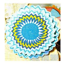 70s Decor by Vintage Crochet 70s Sunburst Pillow Pdf Crochet