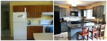 from great tale painting oak cabinets kitchen grey espresso