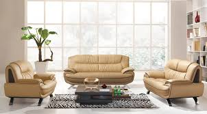 Contemporary Living Room Furniture Living Room White Leather Sectional Sofa Cushions Dark Brown