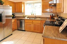 kitchen paint colors with red oak cabinets light color ideas