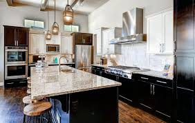 espresso kitchen cabinets with white countertops 50 high end wood kitchens photos designing idea