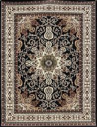 Rug Black Black Oriental Rugs Persian Isfahan Design 5x8 8x11 9x12 Area